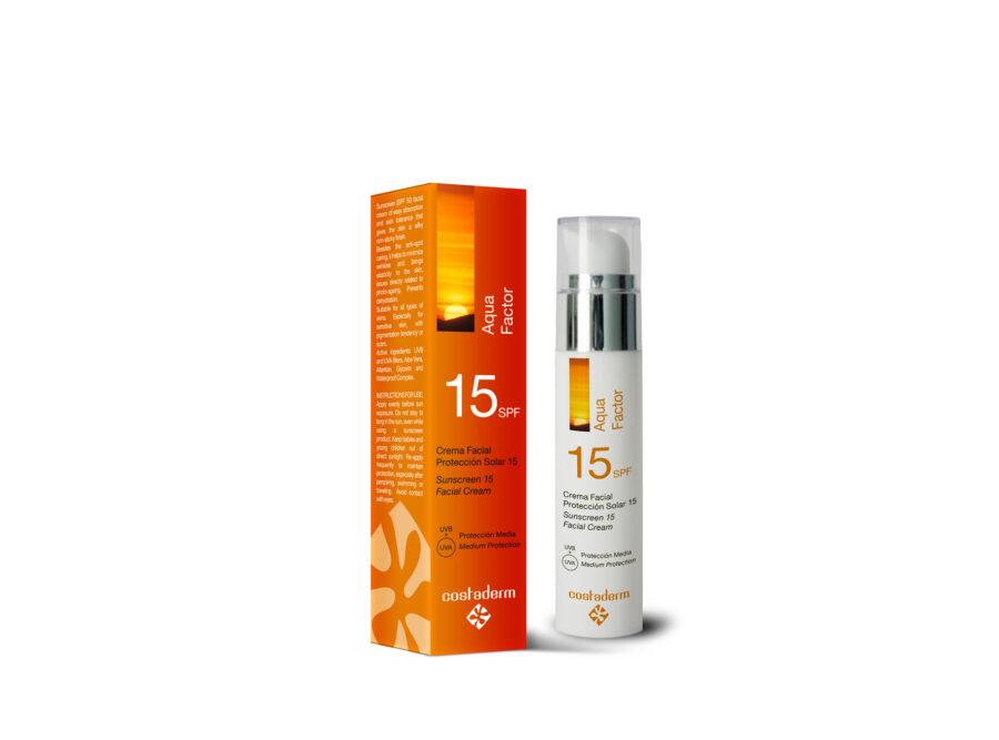costaderm proteccion solar aqua 15