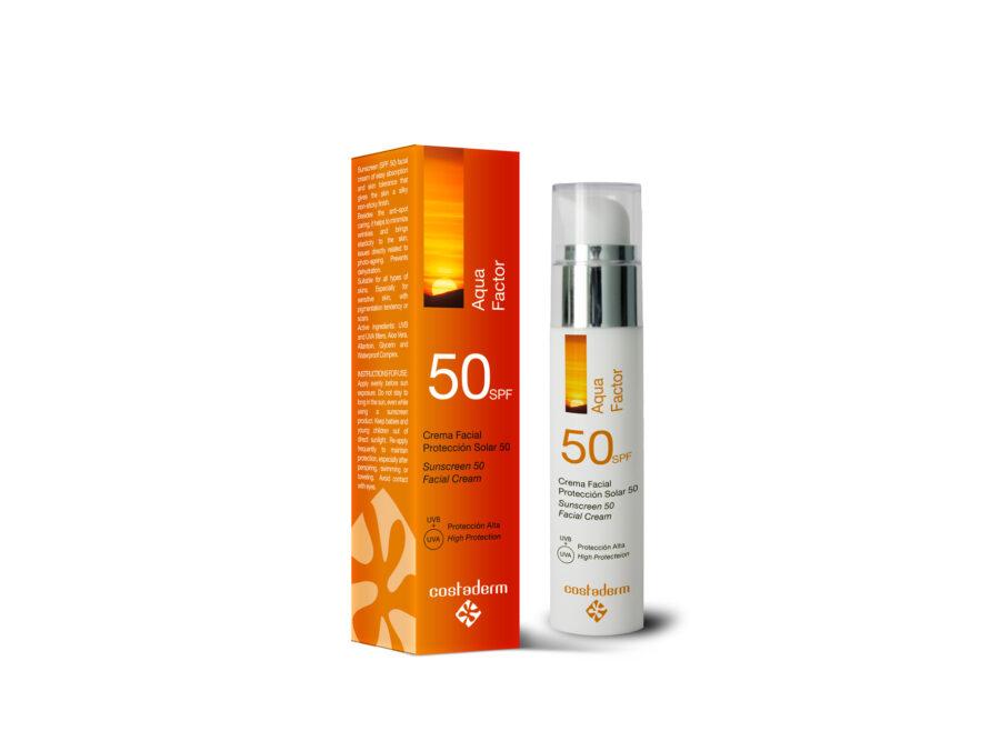 costaderm proteccion solar aqua 50
